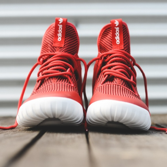 new style 4c189 d4500 Adidas Tubular X Primeknit Red Mens 11